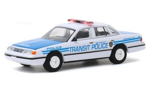 Ford Crown 1/64 Greenlight Victoria Police Interceptor New York City Transit Police 1994 miniature