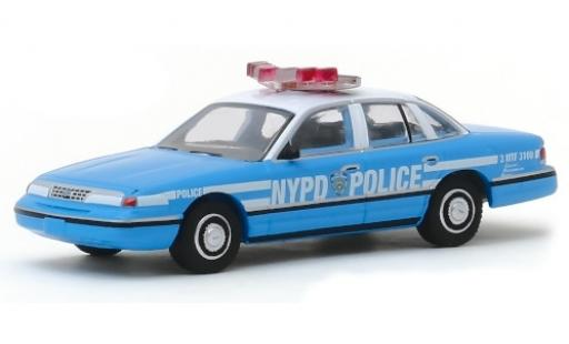 Ford Crown 1/64 Greenlight Victoria Police Interceptor NYPD - New York City Police Department 1993 miniatura