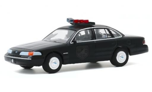 Ford Crown 1/64 Greenlight Victoria Police Interceptor noire/matt-noire Black Bandit Police 1992 miniature