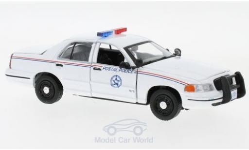 Ford Crown 1/43 Greenlight Victoria Police Interceptor USPS white 2010 diecast model cars