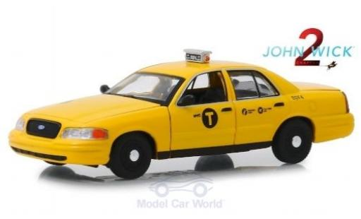 Ford Crown 1/43 Greenlight Victoria Taxi John Wick 2008 miniatura