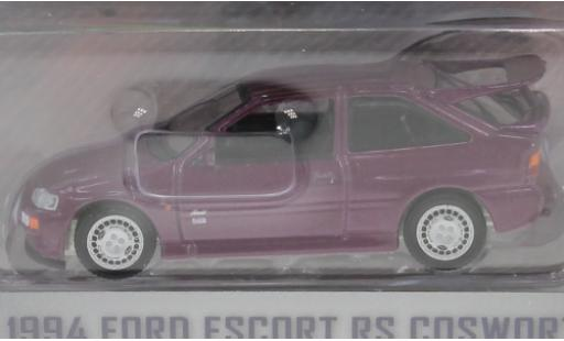 Ford Escort 1/64 Greenlight MkV RS Cosworth metallise lila RHD 1994 miniature