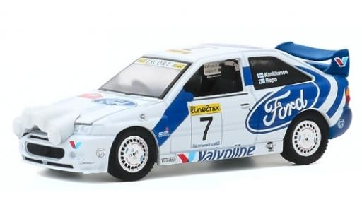 Ford Escort 1/64 Greenlight MkV WRC RHD No.7 Rally Monte Carlo 1996 J.Kankkunen/J.Repo diecast model cars