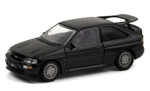 Ford Escort 1/64 Greenlight RS Cosworth schwarz/matt-schwarz RHD Black Bandit Racing 1994 modellautos