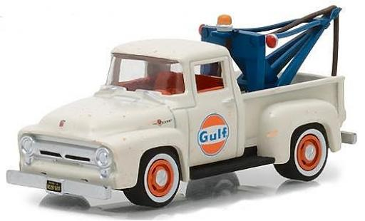 Ford F-1 1/64 Greenlight 00 Gulf 1956 with Tow Hook miniature