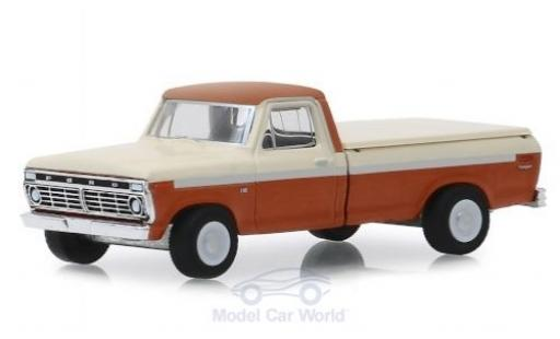 Ford F-1 1/64 Greenlight 00 métallisé marron/blanche 1973 miniature