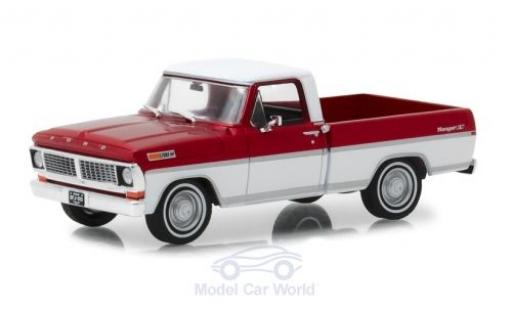 Ford F-1 1/43 Greenlight 00 Pick-Up rouge/blanche 1970 miniature