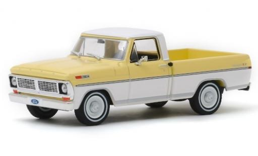 Ford F-1 1/43 Greenlight 00 Ranger XLT yellow/white 1970 diecast model cars