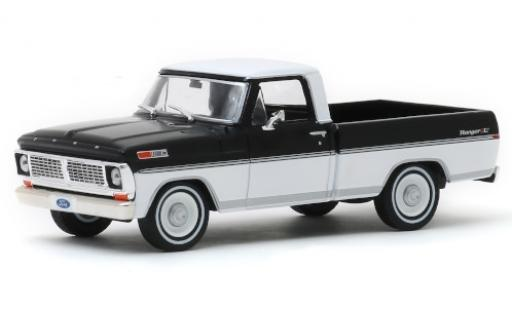 Ford F-1 1/43 Greenlight 00 Ranger XLT black/white 1970 diecast model cars