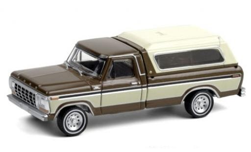 Ford F-1 1/64 Greenlight 50 metallise marron/beige 1979 miniature