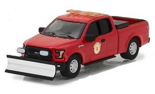 Ford F-1 1/64 Greenlight 50 rouge Public Works Arlington Heights avec Chasse-neige miniature