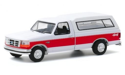 Ford F-1 1/64 Greenlight 50 XLT blanche/rouge 1994 miniature