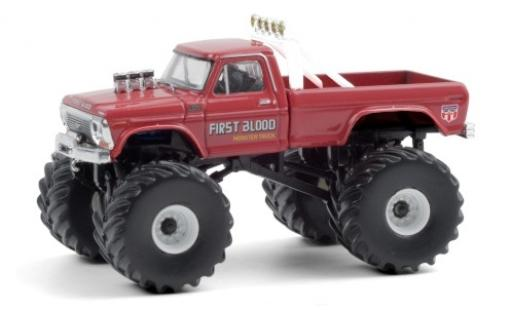 Ford F-250 1/64 Greenlight Monster Truck First Blood 1978 diecast model cars