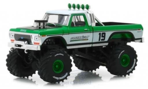Ford F-250 1/64 Greenlight Monster Truck verte/blanche 1974 miniature