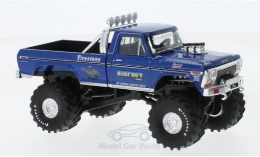 Ford F-250 1/43 Greenlight Monster Truck métallisé bleue Bigfoot 1974 miniature