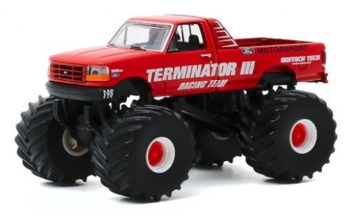 Ford F-250 1/64 Greenlight Monster Truck Terminator III 1993 diecast model cars