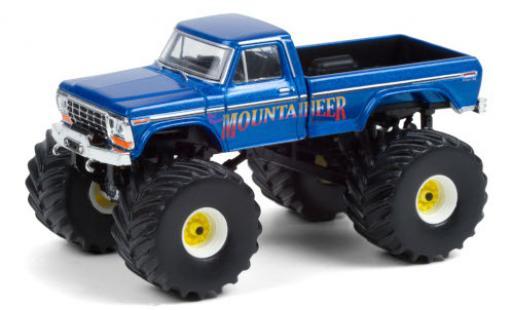 Ford F-250 1/64 Greenlight Monster Truck West Virginia Mountaineer 1979 miniature