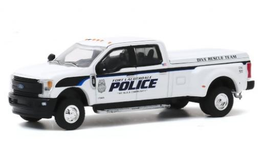 Ford F-350 1/64 Greenlight Lariat Fort Lauderdale Police 2019 Dive Rescue Team miniature