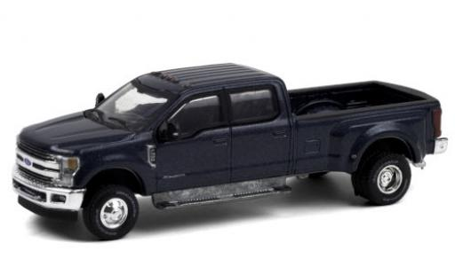 Ford F-350 1/64 Greenlight Lariat metallise blue 2019 diecast model cars
