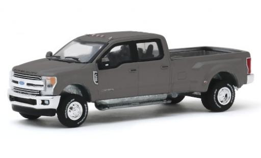 Ford F-350 1/64 Greenlight Lariat metallise grise 2019 miniature