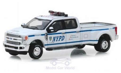 Ford F-350 1/64 Greenlight Lariat NYPD 2019 miniature