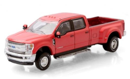 Ford F-350 1/64 Greenlight Lariat rouge 2019 miniature