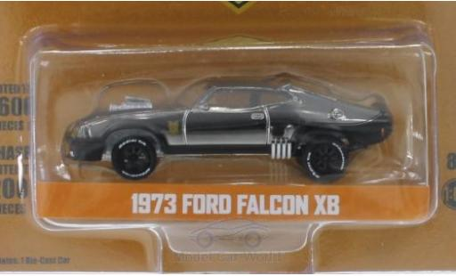 Ford Falcon 1/64 Greenlight XB chrom/noire The Last of the V8 Interceptors Madmax 1973 miniature