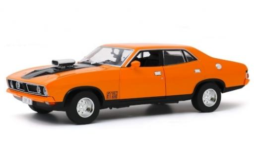 Ford Falcon 1/18 Greenlight XB GT351 4-Door Sedan orange/noire RHD 1974 miniature