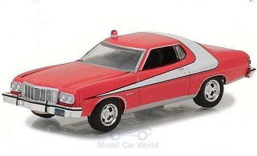 Ford Gran Torino 1/64 Greenlight rouge/blanche 1976 miniature