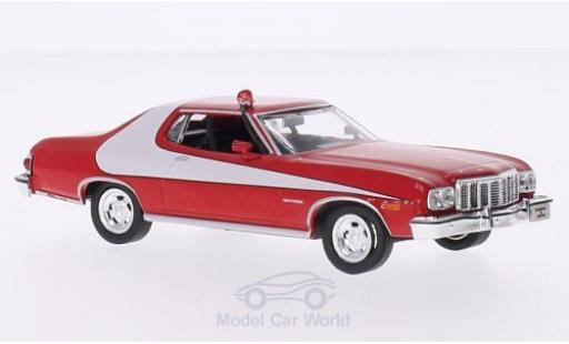Ford Gran Torino 1/43 Greenlight rouge/blanche 1976 Starsky & Hutch TV-Serie miniature