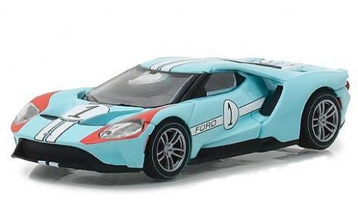 Ford GT 1/64 Greenlight bleue 2017 1966 #1 40 Mk II Tribute miniature