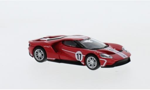 Ford GT 1/64 Greenlight rouge/blanche No.17 Collectable Diecast 2017 miniature