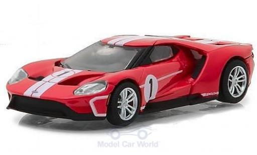 Ford GT 1/64 Greenlight rouge 2017 1967 #1 40 Mk IV Tribute miniature