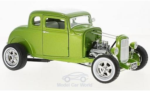 Ford Hot Rod 1/18 Greenlight Custom metallise verde/blanco Gas Monkey Garage 1932 coche miniatura