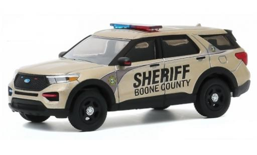 Ford Interceptor 1/64 Greenlight Utility Boone County Sheriff 2020 200th Anniversaire - Boone County Sheriffs Departement diecast model cars