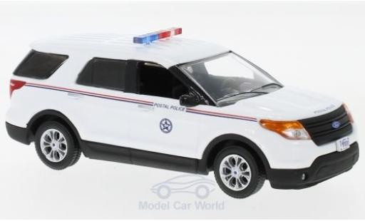 Ford Interceptor 1/43 Greenlight Utility USPS Postal Police blanche 2014 miniature