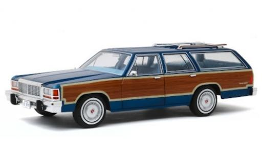 Ford LTD 1/18 Greenlight Country Squire metallise bleue/Holzoptik 1979 Artisan Collection miniature