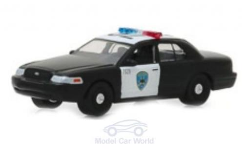 Ford LTD 1/64 Greenlight Crown Victoria Police Interceptor Oakland 2008 miniatura