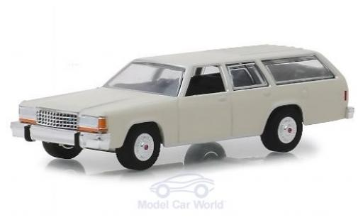 Ford LTD 1/64 Greenlight Crown Victoria Wagon beige 1984 miniature