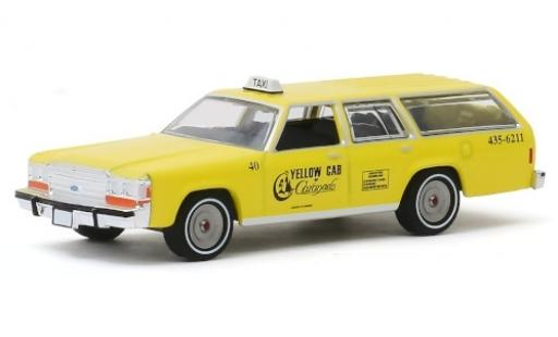Ford LTD 1/64 Greenlight Crown Victoria Wagon Yellow Cab of Coronado 1988 miniatura