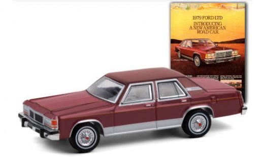 Ford LTD 1/64 Greenlight Landau 4-Door Sedan rot/matt-rot 1979