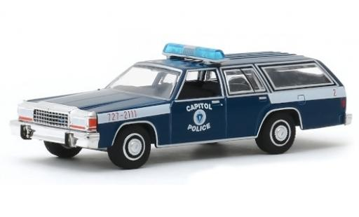 Ford LTD 1/64 Greenlight Station Wagon Massachusetts Capitol Police 1983 miniatura