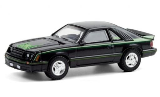 Ford Mustang 1/64 Greenlight Cobra black/Dekor 1980 diecast model cars