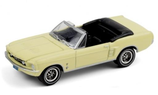Ford Mustang 1/64 Greenlight Convertible High Country Special yellow 1967 diecast model cars