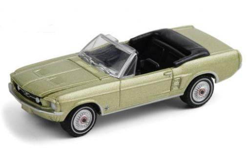 Ford Mustang 1/64 Greenlight Convertible Sports Sprint metallise green 1967 diecast model cars