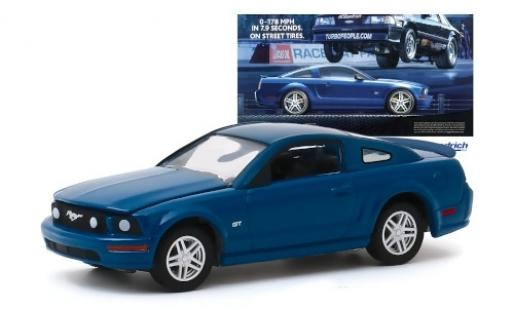 Ford Mustang 1/64 Greenlight GT blue 2009 diecast model cars