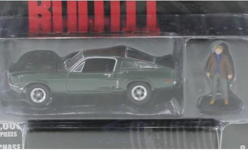 Ford Mustang GT 1/64 Greenlight green Bullitt 1968 mit Steve McQueen Figur diecast model cars