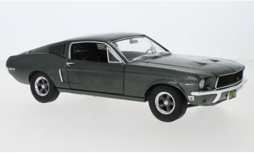 Ford Mustang 1/18 Greenlight GT Fastback metallise verte 1968 miniature