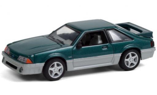 Ford Mustang 1/64 Greenlight GT metallise verte/grise 1991 Home Improvement miniature