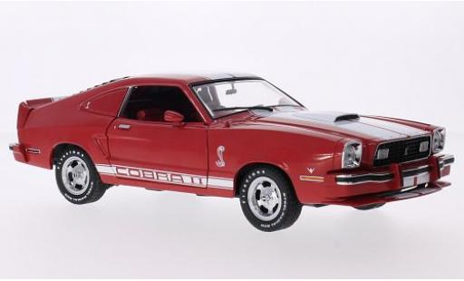 Ford Mustang 1/18 Greenlight II Cobra II rouge/blanche 1978 miniature